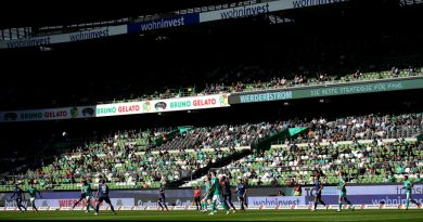 Bundesligapartie zwischen Werder Bremen und Arminia Bielefeld ohne Fans